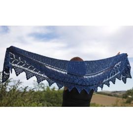 Guirlande - crochet shawlette
