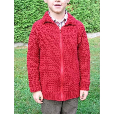 Guy - child's jacket, crochet + knit
