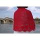 Lune rouge - crochet shawl