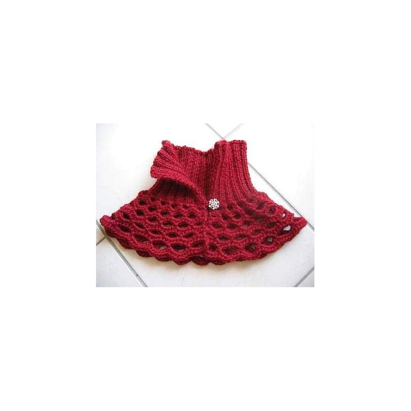 Luscious Crochet Knit Collar Annette Petavy Design