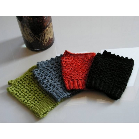 Fingerless mittens for spring - crochet mittens