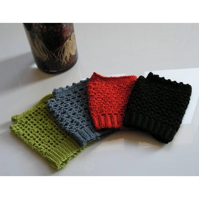 Fingerless Mittens For Spring Crochet Mittens Annette Petavy Design