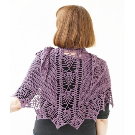 Ananas 343 - crochet shawl
