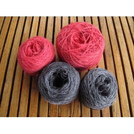 Pack laceweight alpaca / laceweight bamboo