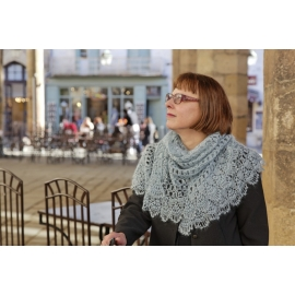 Over the clouds - crochet shawl