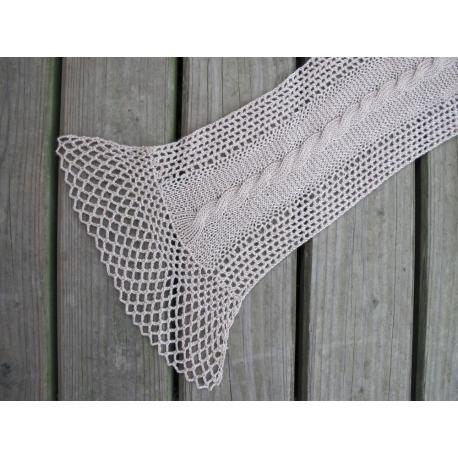 Ava - knit + crochet scarf