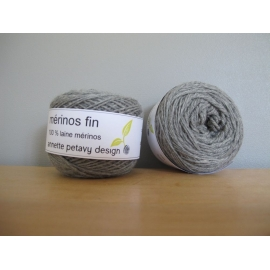 Merino fingering weight Colour-Merino fingering weight - granite grey (heathered)
