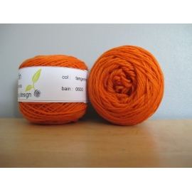 Merino fingering weight Colour-Merino fingering weight - tangerine