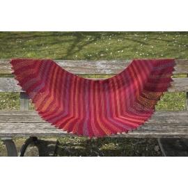 Firebird - knitted shawl