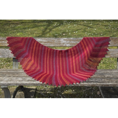 Firebird - knitted shawl
