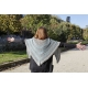 Natural allure - knitted shawl