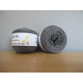 Merino fingering weight Colour-Merino fingering weight - mouse grey (heathered)
