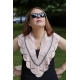 La vie en rose - knitted shawlette