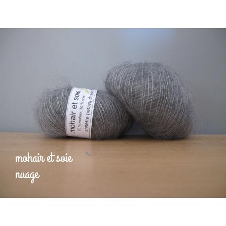 Mohair and silk