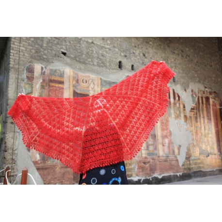 Poppaea Shawl - crochet shawl