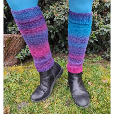 Knitted legwarmers - pattern and recipe