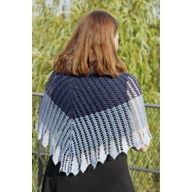 Blue Song - crochet shawl