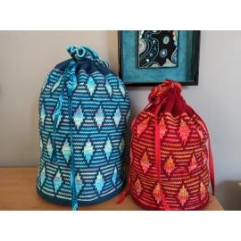 Rhombique - bags in mosaic crochet