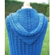 Thua - crocheted sleeveless hoodie