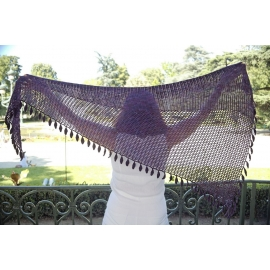 In the Shade of Leaves - crochet shawl
