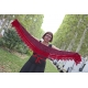 Red Sun - knitted shawlette