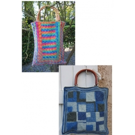 Sock Yarn Bags - crocheted bags