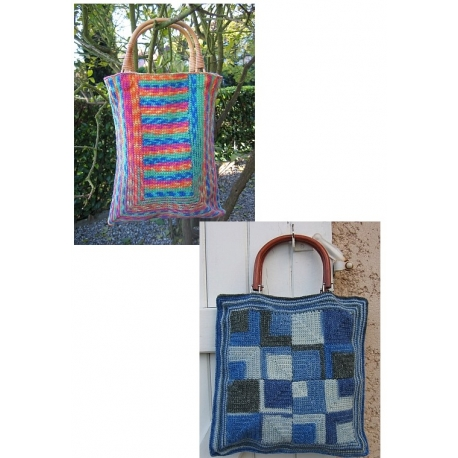 Sock Yarn Bags - crocheted bags