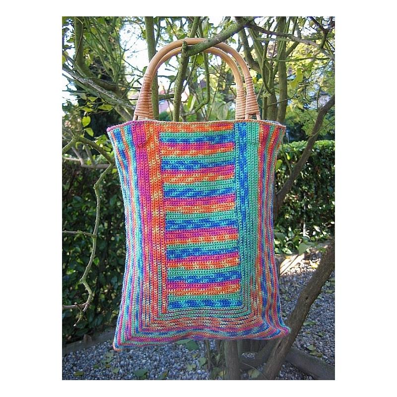Crochet - patterns > Sock Yarn Bags - crocheted bags