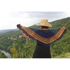 Sea and Sun - crochet shawl