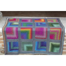 Colourful hug - baby blanket
