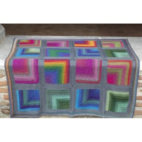 Colourful hug - baby blanket