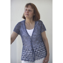 Linen lace - crochet cardigan